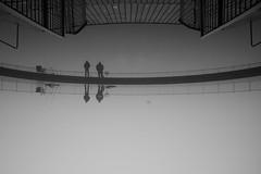 Fishermen (maekke) Tags: zürich tiefenbrunnen badi seefeld zürichsee fog reflection 2017 fujifilm x100t streetphotography lake bw noiretblanc ch switzerland 35mm