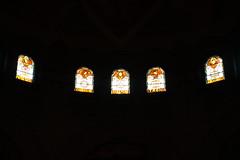 Stained glass @ Église Saint-Michel des Batignolles @ Paris (*_*) Tags: paris france europe city winter 2017 february saturday michael archangel eglisesaintmichel church christian catholic angel églisesaintmicheldesbatignolles batignolles brick