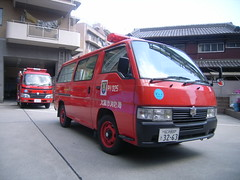 Nissan Caravan Fire Car (SDA007) Tags: なにわ naniwa