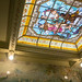 The bathroom stained glass ceiling