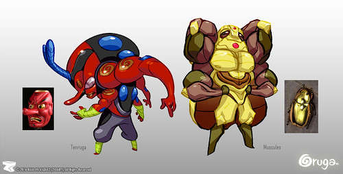 Character designer - illustration 80 | Oruga | Muscules | Tenruga