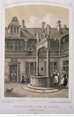 Cour et puits de la tribu des Taileurs de 1526 à Colmar , démolis - 1860 (Maison de l'Alchimiste) Tags: 1526 1860 colmar puits alsace unterlinden muséeunterlinden