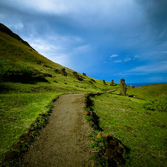 The path to Rano Raraku