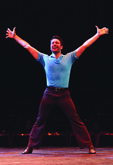 """Nick Varricchio (Mike) performs """"I Can Do That"""" in A Chorus Line, produced by Music Circus at the Wells Fargo Pavilion June 24 – 29, 2014. Photos by Charr Crail."""