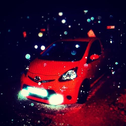 Shooting im Platzregen #Aygo #Rain