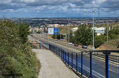 250614_edit (plw1053) Tags: road city bridge landscape spain cityscape motorway camino leon autopista footpath pathway caminodesantiago caminofrances canong15 powershotg15 plw1053 paullgwells
