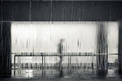 297. Phantasmic (prenetic) Tags: seattle street man brick water fountain waterfall washington downtown rail structure installation handrail