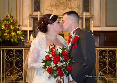 You may now kiss the bride.... (sharonannphotography) Tags: wedding kiss altar weddingday lovestory vows brideandgroom firstkiss churchwedding