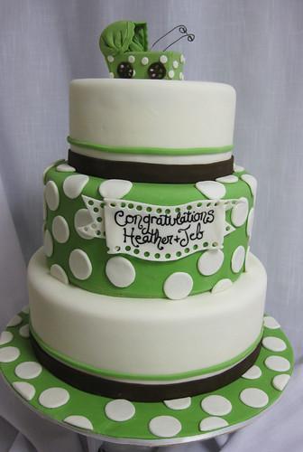 Green Polka Dot Stroller Cake