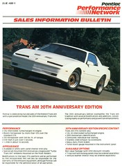 1989 Pontiac Trans Am 20th Anniversary (coconv) Tags: pictures auto old white classic cars car race vintage magazine ads advertising cards photo am flyer automobile post image photos muscle antique anniversary indianapolis postcard ad picture indy images advertisement vehicles turbo photographs card photograph postcards vehicle pace pontiac 1989 autos collectible 500 trans collectors brochure automobiles 20th dealer v6 89 prestige
