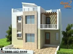 Duplex House Design (ApnaGharhd) Tags: house design floor plan duplex