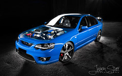 06 FPV GT - Hood-Shot (jasoncstarr) Tags: longexposure nightphotography boss blue lightpainting cars ford photoshop canon flash engine sigma falcon gt 1020mm rims bf v8 supercharger supercharged brembo lightroom fpv lightpainted 70d 430exii canoneos70d invisiblehood