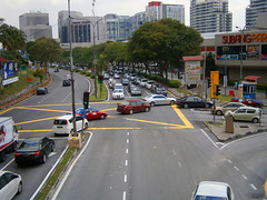 Jalan Kemajuan Subang facing NW, three-way intersection in front of Subang Parade, Subang Jaya, Malaysia (28 May 2014) (03) (Aero7MY) Tags: car shopping centre parade malaysia empire intersection jalan jaya subang selangor kemajuan