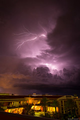French Riviera Summer Storm (NykO18) Tags: sky storm france building weather night clouds europe darkness paca manmade housing lightning climate thunderbolt villeneuveloubet penumbra alpesmaritimes provencealpescôtedazur