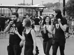 Back in Black (tim.perdue) Tags: park city columbus ohio summer urban bw white black monochrome festival community downtown village north victorian short comfest goodale 2014