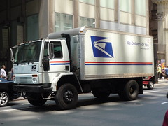USPS Ford Cargo (JLaw45) Tags: road street new york urban usa white ford truck four traffic mail metro united cargo delivery vehicle service postal states usps van cabover metrpolitan wheerl