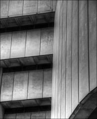 Old Birmingham Library 14 (alanhitchcock49) Tags: old white black 30 architecture john concrete birmingham library july and hdr brutalist monumental madin 2014
