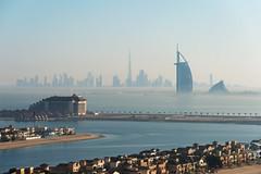 Layers of Dubai #2 (momentaryawe.com) Tags: morning sunshine misty dubai uae foggy burjalarab unitedarabemirates jumeirah palmjumeirah momentaryawecom burjkhalifa