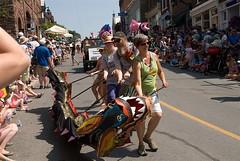Puppet Festival, Almonte, 2014 (chasdobie) Tags: street people ontario canada community dragon crowd parade spectators almonte lanarkcounty internationalpuppetfestival