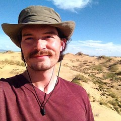 I'm in the north end of the Gobi desert. What kinda weirdo smirks in a desert? #humblebrag :-)