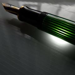 Pelikan M600 filled with light (attika89) Tags: light green fountain pen fountainpen pelikan m600