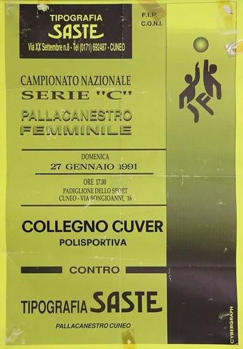 Manifesto Cuneo vs. Collegno Basket - Serie C Femminile
