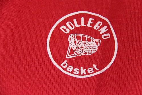 Dettaglio logo polo rossa Collegno Basket