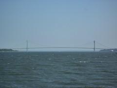 201407131 New York City Staten Verrazano-Narrows Bridge (taigatrommelchen) Tags: ocean nyc newyorkcity bridge sky usa ny newyork brooklyn ship icon statenisland onboard 20140729