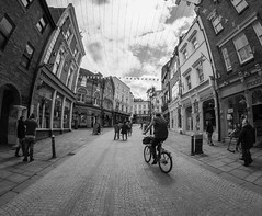 Street Cycle (David Glen) Tags: bw white black and