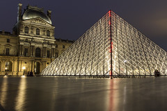 Louvre: Night (JoshJackson84) Tags: longexposure paris france museum night europe ledefrance pyramid louvre sigma1020mm musedelouvre canon60d nd10