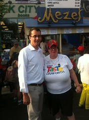 Monte attends Taste of the Danforth, enjoying the celebrations and meeting people along the way