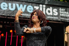 The sexiest sign language interpreter I ever shot ... (Edwin van Tilburg - Oss - Netherlands) Tags: gay amsterdam sony lgbt transvestite olympics gaypride dragqueen edwin 2014 travestiet lgbtq signlanguageinterpreter lgbti doventolk edwinvantilburg