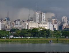 View across Ibirapuera Lake, Sao Paulo, Brazil (JH_1982) Tags: park city parque brazil cloud lake storm brasil skyline clouds dark cityscape view brasilien ibirapuera thunderstorm paulo sao brasile brsil brazili  brezilya  brazylia