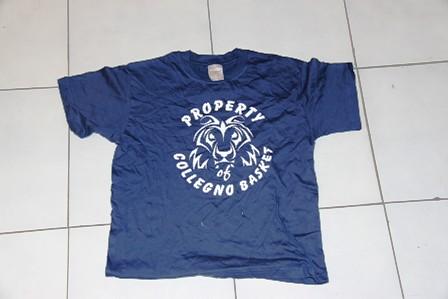 Property of Collegno Basket blu logo leone
