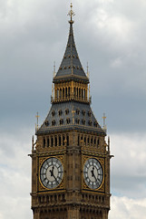 Big Ben on a cloudy day 2011 (Daves Portfolio) Tags: london clock afternoon housesofparliament bigben cloudysky 2011