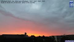 roter Sonnenaufgang ber Offenbach (Deutscher Wetterdienst (DWD)) Tags: sun weather webcam wolke wolken sonne sonnenaufgang wetter offenbach dwd wetterdienst