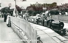 Happy Mount Park Miniature Railway, Morecambe (trainsandstuff) Tags: miniaturerailway train railway postcard happymountpark morecambe vintage retro archival lancashire oldpostcard old history