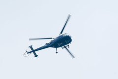 Alouette helicopter boven de dropzone #Margetgarden2014 #Airborne_2014