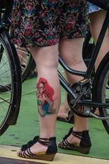 Tattoo (105mm) Tags: street city girls portrait people woman sexy girl amsterdam bike tattoo happy women pretty legs candid streetphotography streetportrait streetlife skirt blond upskirt streetwear streetportraits streetstyle