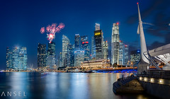 UBS fireworks (draken413o) Tags: travel panorama skyline architecture night marina bay singapore asia long exposure skyscrapers fireworks cityscapes ubs destinations