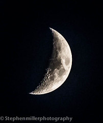 Moon (stephenmillerphotography) Tags: moon night glow crescent crater half