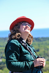 Laura Erickson at Hawk Ridge, Photo by Lisa Johnson (Laura Erickson) Tags: family people laura minnesota duluth hawkridge hawkridgebirdobservatory