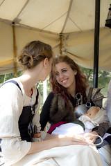 Maternità (Skarlo87) Tags: girls baby smile birth medieval sorriso nascita larp tenda parto bambino bebè grv bambolotto
