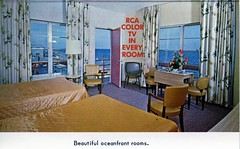 Driftwood Motel Oceanfront Miami Beach FL (Edge and corner wear) Tags: vintage advertising hotel pc tv inn postcard motel lodge driftwood card motor brochure aaa foldout