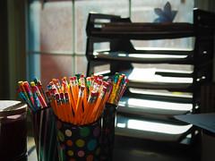 The Quiet (justtjenny) Tags: light pencils teacher