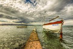 The road (Nejdet Duzen) Tags: trip travel sea turkey boat cloudy türkiye deniz sandal izmir turkei seyahat urla bulutlu