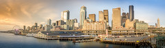 Down town Seattle (Eve Photography By JC Clemens) Tags: seattle city scape washington landscape sunset nikon d610 tamron ferry puget sound bainbridge ivers dock skyscapers building water clouds