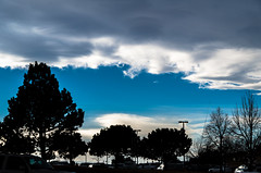 067/365 - Half and Half (laureanophoto) Tags: project3652017 blue sky low clouds storm cell landscape 365 afternoon silhouette cloud