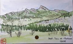 Le Tour de France virtuel - 38- Isère (chando*) Tags: croquis sketch aquarelle watercolor france