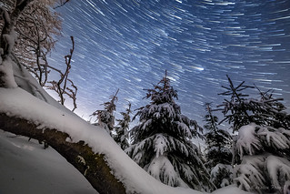 startrail over the feldberg